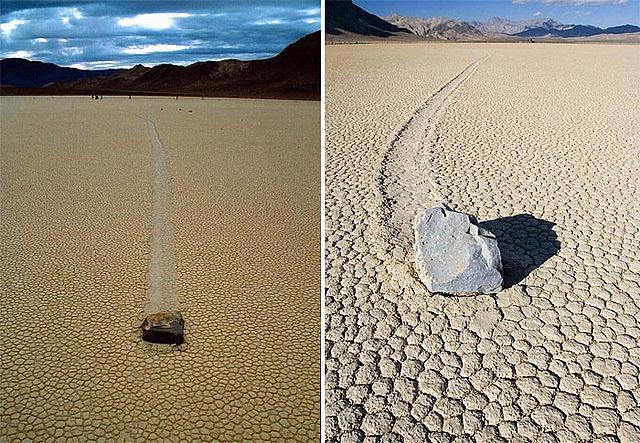 ¿ Por qué se mueven solas las piedras en el Valle de la Muerte ?