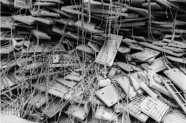 La basura electrónica basura