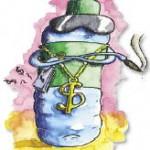 Beba refrescante agua radiactiva
