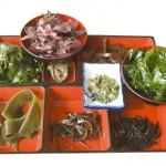 Algas comestibles las verduras de mar