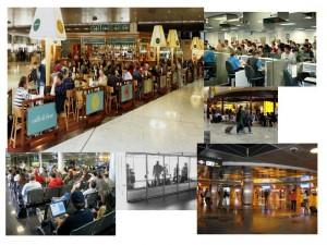 Tiendas y Salas en Aeropuerto